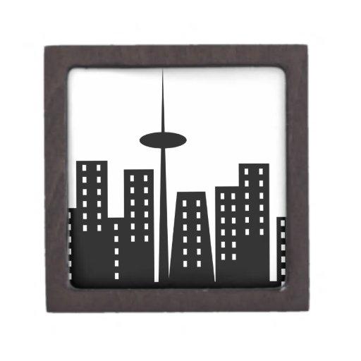 Paisaje urbano caja de joyas de calidad