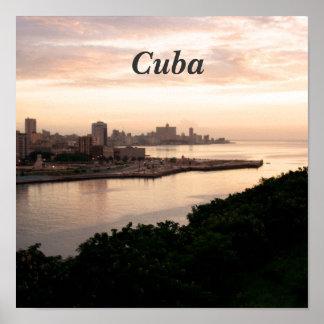 Paisaje urbano cubano posters
