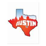 Paisaje urbano de Austin Tejas Tarjeta Postal