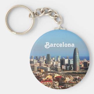 Paisaje urbano de Barcelona Llavero Redondo Tipo Pin