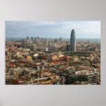 paisaje urbano de Barcelona Póster