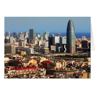 Paisaje urbano de Barcelona Tarjeta