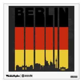 Paisaje urbano de Berlín del vintage Vinilo Decorativo