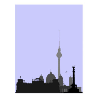 Paisaje urbano de Berlín Tarjeta Postal