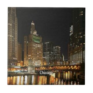 Paisaje urbano de Chicago Azulejos Ceramicos