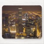 Paisaje urbano de Chicago céntrica Alfombrillas De Raton