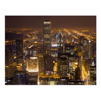 Paisaje urbano de Chicago céntrica Postal