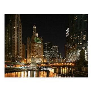 Paisaje urbano de Chicago Tarjeta Postal
