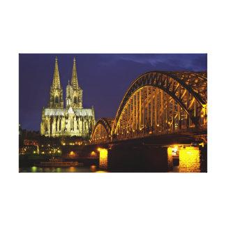 Paisaje urbano de Colonia en la impresión de la lo Lona Envuelta Para Galerías
