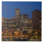 Paisaje urbano de Denver Azulejo Cuadrado Grande