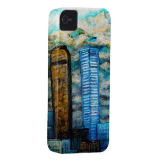 Paisaje urbano de Denver, caso del arte para el iPhone 4 Case-Mate Fundas
