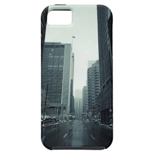 Paisaje urbano de Denver iPhone 5 Protectores