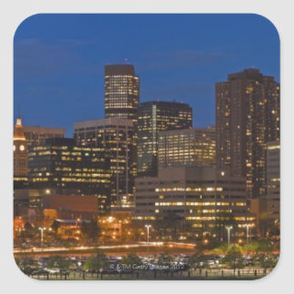 Paisaje urbano de Denver Pegatinas Cuadradas Personalizadas