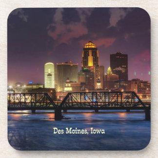 Paisaje urbano de Des Moines, Iowa Posavasos De Bebida