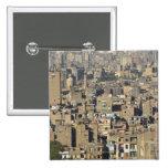 Paisaje urbano de El Cairo Pin Cuadrada 5 Cm