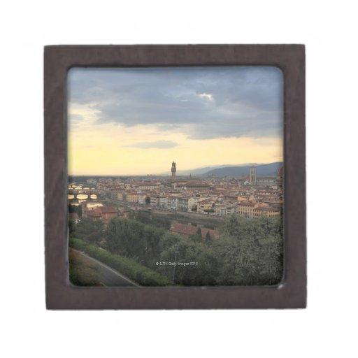 Paisaje urbano de Florencia, Italia Caja De Regalo De Calidad