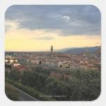 Paisaje urbano de Florencia, Italia Pegatina Cuadrada