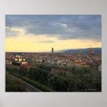 Paisaje urbano de Florencia, Italia Póster