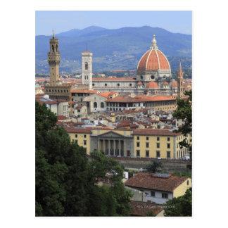 Paisaje urbano de Florencia Tarjeta Postal