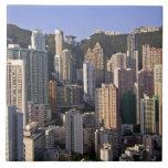 Paisaje urbano de Hong Kong, China Azulejo Cuadrado Grande