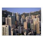 Paisaje urbano de Hong Kong, China Tarjeta De Felicitación