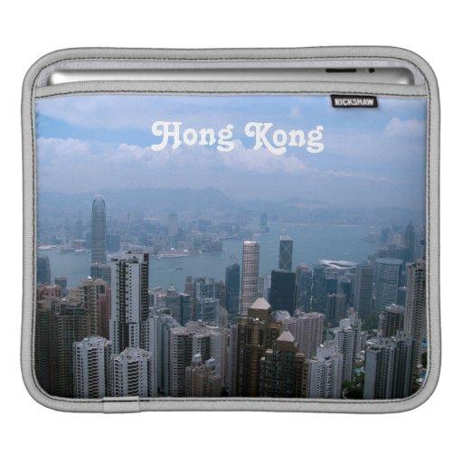 Paisaje urbano de Hong Kong Fundas Para iPads