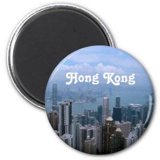 Paisaje urbano de Hong Kong Imanes Para Frigoríficos