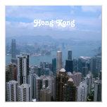 Paisaje urbano de Hong Kong Invitación 13,3 Cm X 13,3cm