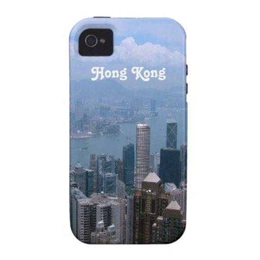 Paisaje urbano de Hong Kong iPhone 4/4S Funda