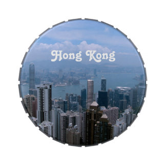 Paisaje urbano de Hong Kong Jarrones De Dulces