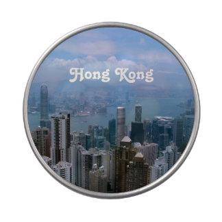 Paisaje urbano de Hong Kong Frascos De Caramelos