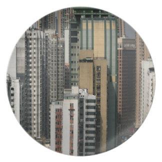 Paisaje urbano de Hong Kong Plato De Cena