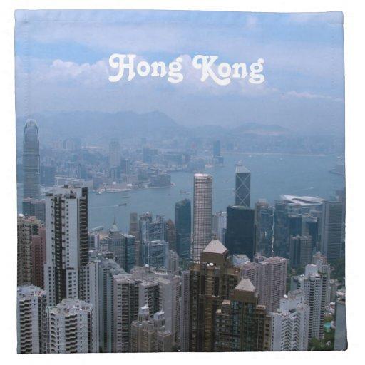 Paisaje urbano de Hong Kong Servilleta