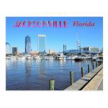 Paisaje urbano de Jacksonville la Florida Tarjeta Postal
