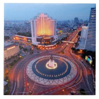 Paisaje urbano de Jakarta Azulejo Cuadrado Grande