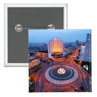 Paisaje urbano de Jakarta Pin Cuadrada 5 Cm