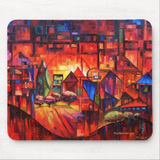 Paisaje urbano de la paralaje - Mousepad