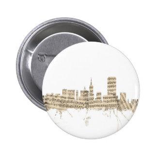 Paisaje urbano de la partitura del horizonte de chapa redonda 5 cm