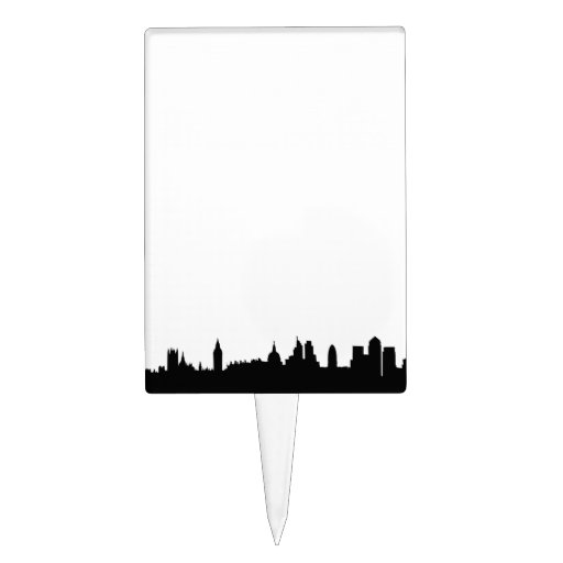 Paisaje urbano de la silueta del horizonte de Lond Decoraciones De Tartas