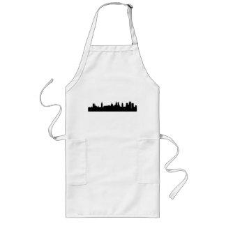 Paisaje urbano de la silueta del horizonte de Lond Delantal Largo
