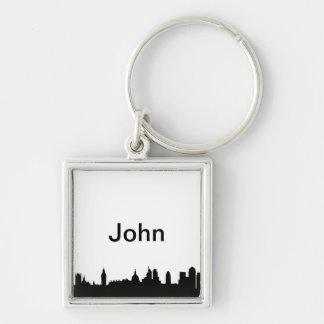 Paisaje urbano de la silueta del horizonte de Lond Llaveros Personalizados
