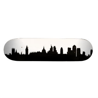 Paisaje urbano de la silueta del horizonte de Lond Tablas De Patinar
