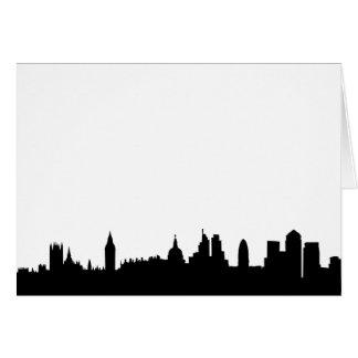 Paisaje urbano de la silueta del horizonte de Lond Felicitación