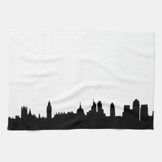 Paisaje urbano de la silueta del horizonte de Lond Toallas