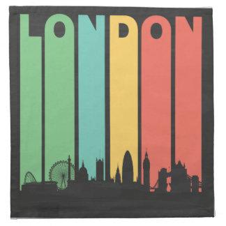 Paisaje urbano de Londres del vintage Servilletas