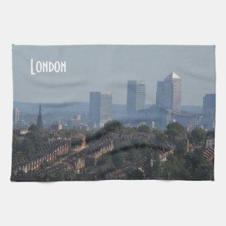 Paisaje urbano de Londres - foto amarilla del muel Toalla