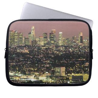 Paisaje urbano de Los Ángeles en la noche Mangas Computadora