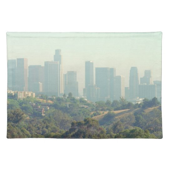 Paisaje urbano de Los Ángeles Manteles Individuales