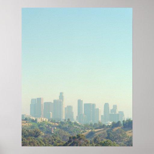 Paisaje urbano de Los Ángeles Posters