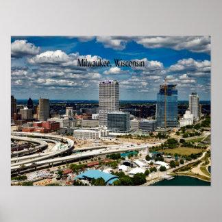 Paisaje urbano de Milwaukee, Wisconsin Póster